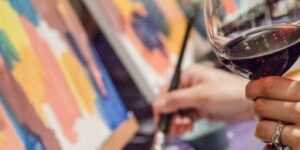 Live-Virtual Pinot and Paint Game
